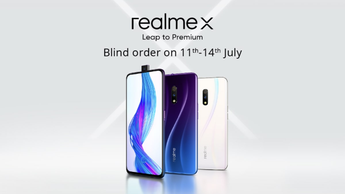 Realme X Up for 'Blind Order' in India Till July 14, Rs. 500 Discount Offered: All Details