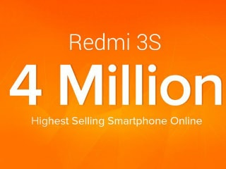 Redmi 3S 'Highest Selling Smartphone Online' in India, Xiaomi Claims