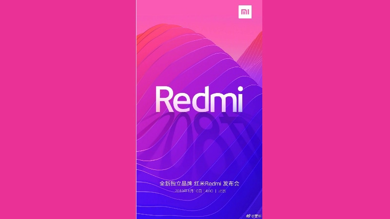 Xiaomi Makes Redmi a Sub-Brand, 48-Megapixel Redmi Phone Launch Set for January 10