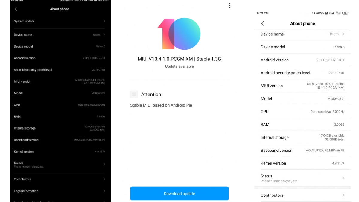 Redmi 6, Redmi 6A Start Receiving Android Pie-Based MIUI 10 Update