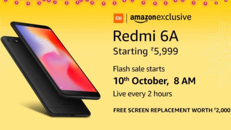 Amazon Great Indian Festival: Redmi 6A Flash Sale Marathon Details Revealed