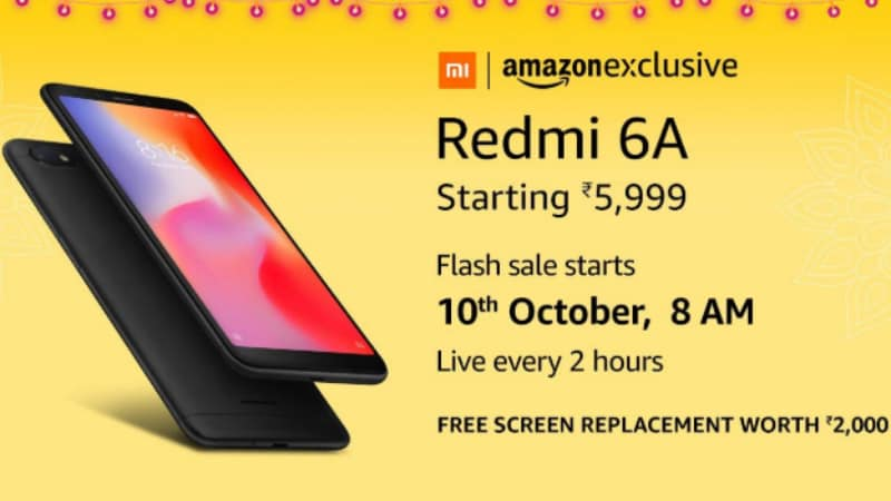 Amazon Great Indian Festival: Redmi 6A Flash Sale Marathon Details Revealed