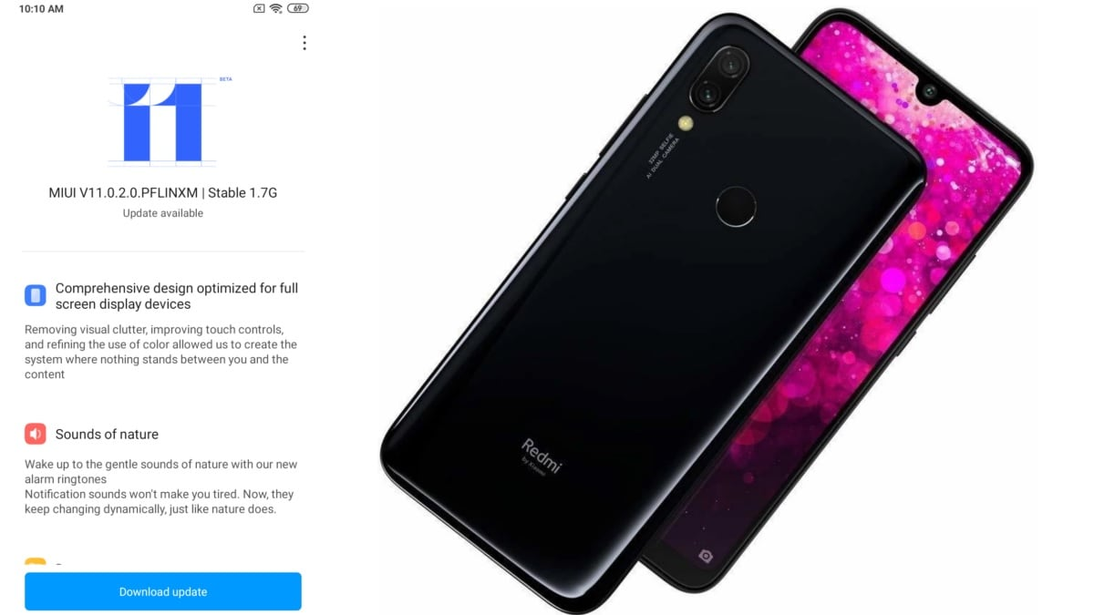 Redmi 7 Starts Receiving MIUI 11 Stable Update in India With October Security Patch