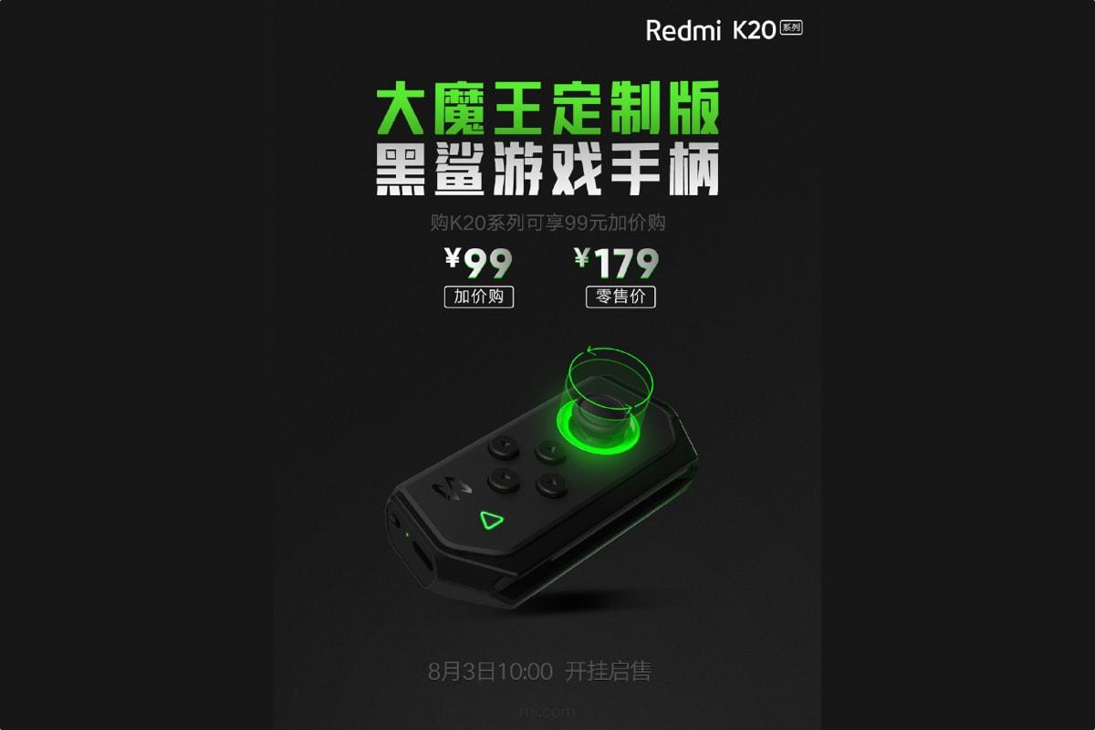 Poster promo game pad Redmi K20 yang resmi dirilis di Tiongkok.