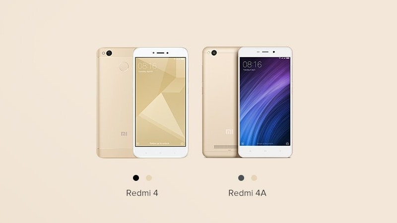 Xiaomi Redmi 4, Redmi 4A to Be Available for Pre-Orders on Mi.com