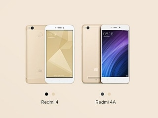 Xiaomi Redmi 4A, Redmi 4 to Be Available for Pre-Orders on Mi.com Today