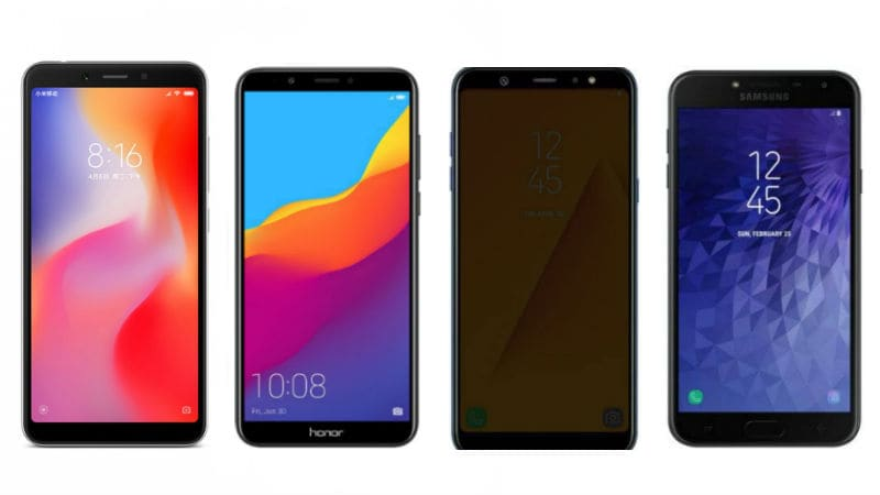 Xiaomi Redmi 6 vs Realme 1 vs Honor 7C vs Samsung Galaxy J4: Price, Specifications Compared