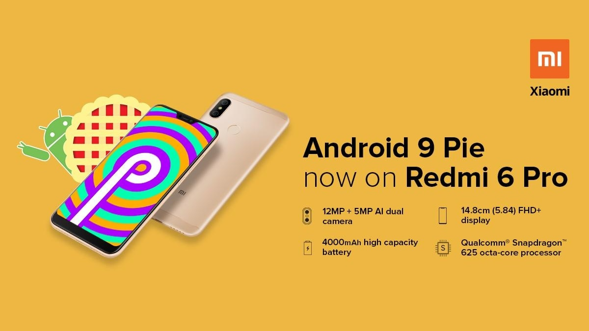 Redmi 6 Pro Android 9 0 Pie-Based MIUI 10 3 2 Global Stable Update