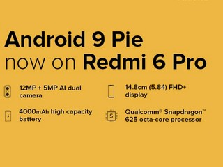 Redmi 6 Pro Android 9.0 Pie-Based MIUI 10.3.2 Global Stable Update Now Available to Download