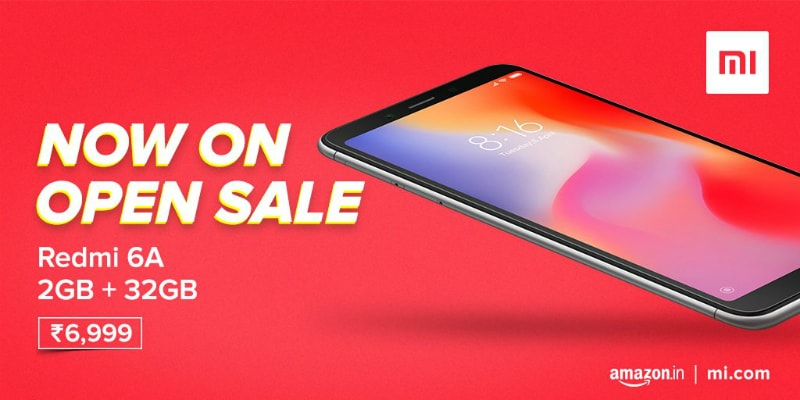 Xiaomi Redmi 6A 32GB Storage Model Now on Open Sale in India: Price, Specifications
