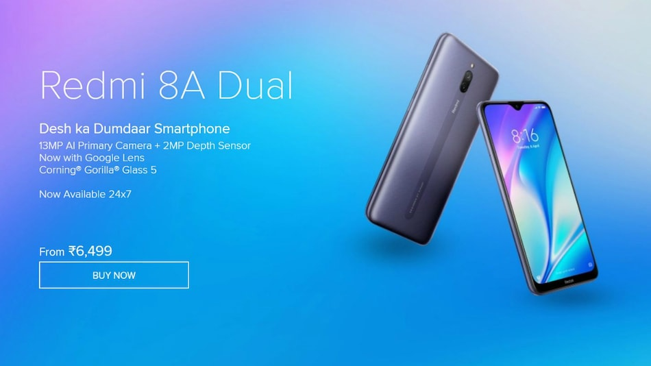 Redmi 8A Dual Goes on Open Sale in India, Again