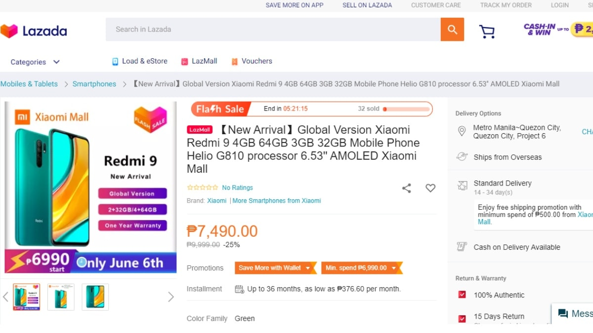 Redmi 9 Specifications, Price Appear on E-Retailer Website Ahead of Launch