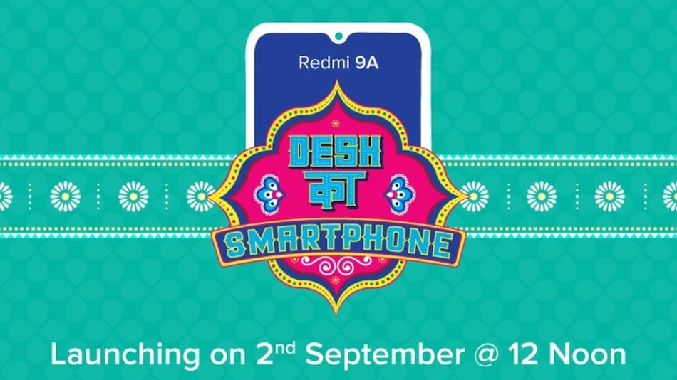 Redmi 9A India Launch Set for September 2, First Sale Date Revealed as Well