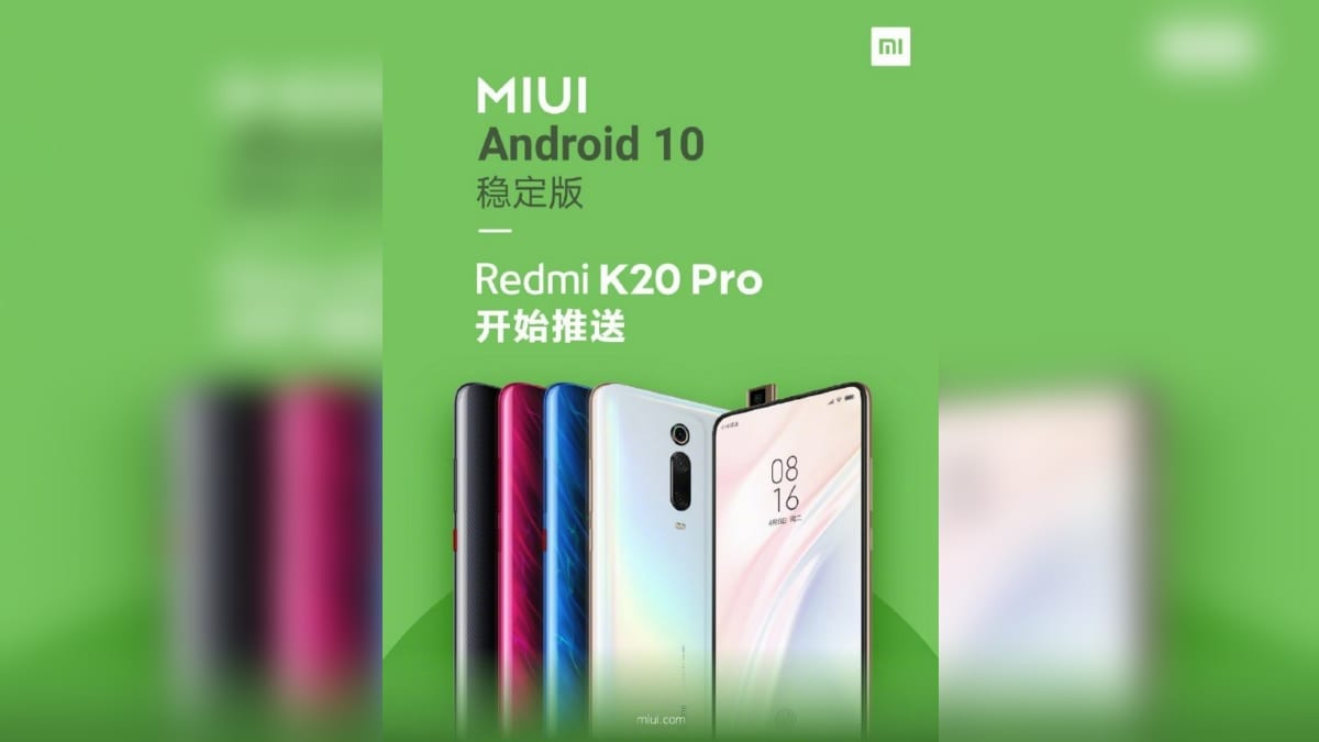 Redmi K20 Pro Starts Receiving Android 10-Based MIUI 10 Stable Update