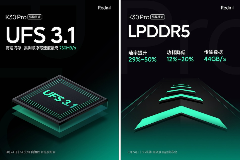 Redmi K30 Pro Teased to Debut With UFS 3.1 Storage, Feature VC Liquid Cooling