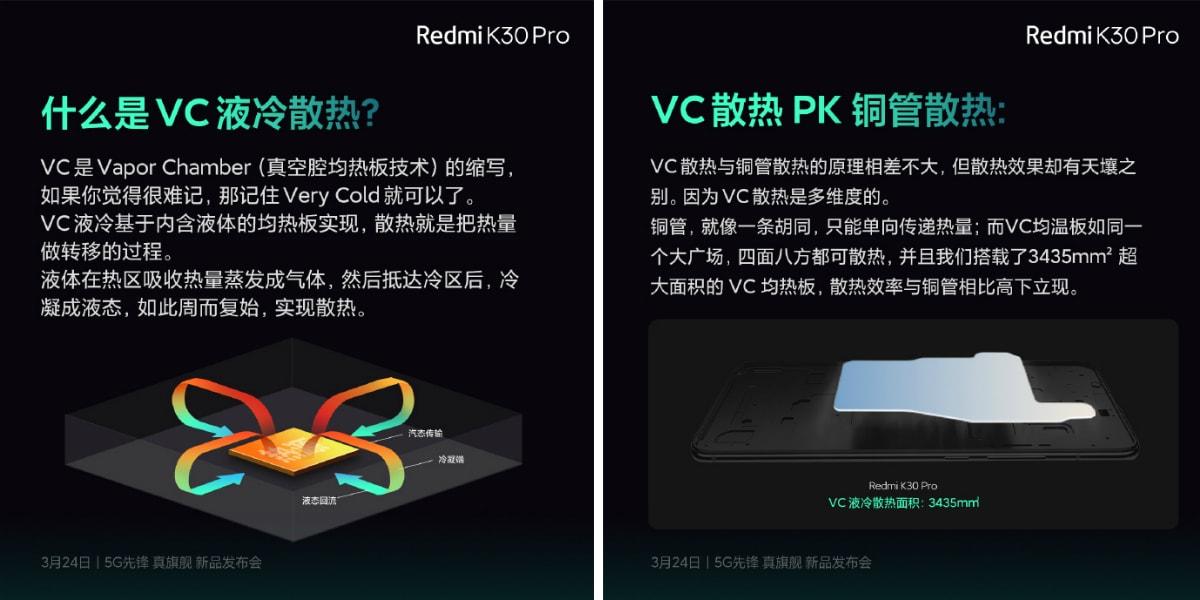 redmi k30 pro vc cooling teaser weibo Redmi K30 Pro
