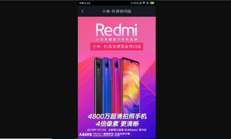 Xiaomi Redmi Note 7 के स्पेसिफिकेशन लीक, 10 जनवरी को लॉन्च होने का दावा