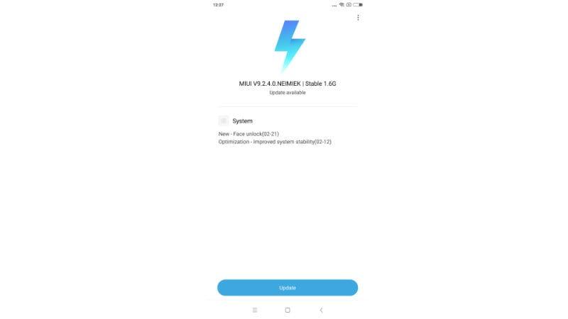 redmi note 5 pro miui update Redmi Note 5 Pro