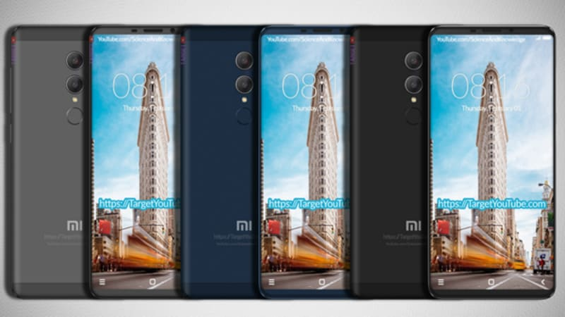 Xiaomi Redmi Note 5 Leaked Renders Tip an 18:9 Display With Thin Bezels