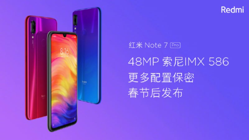 Redmi Note 7 Pro Price Hinted to be Around CNY 2,000 Ahead of Launch Next Week