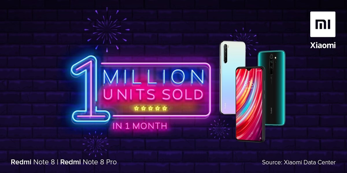 Redmi Note 8, Redmi Note 8 Pro Sail Past 1 Million-Unit Sales in 1 Month, Xiaomi India Chief Manu Kumar Jain Reveals