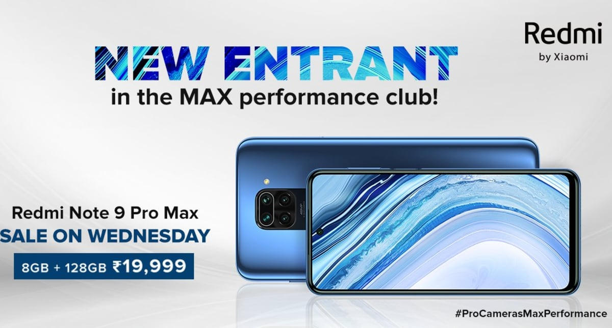 Redmi Note 9 Pro Max 8GB RAM Variant to Go on its First Sale on Wednesday