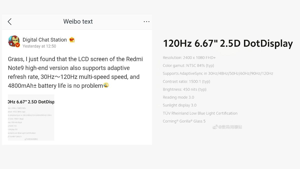 redmi note 9 weibo Redmi Note 9