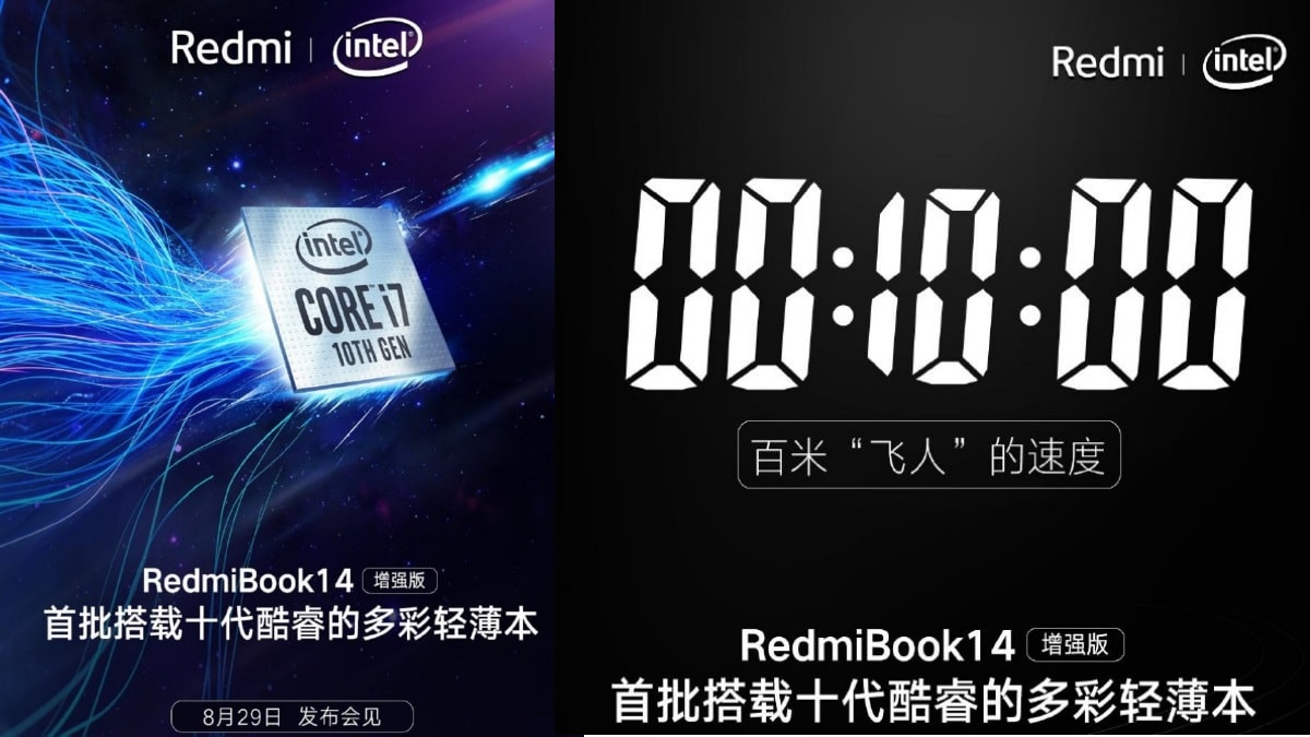 RedmiBook 14 Refresh Powered by 10th Gen Intel Processors Set to Launch on August 29