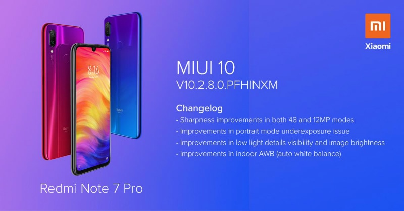 Redmi Note 7 Pro Starts Receiving New MIUI 10 Update in India, Camera Improvements and March Security Patch in Tow