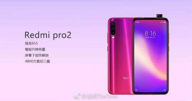 Redmi Pro 2 की तस्वीर आई सामने, पॉप-अप सेल्फी कैमरा होने के दावा