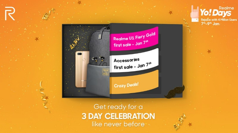 Realme Crosses 4 Million Users Milestone, Realme U1 Fiery Gold, Realme Buds First Sale Date Revealed
