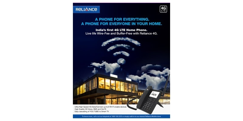Reliance Communications Launches Its First Android-Based 4G LTE HomePhone