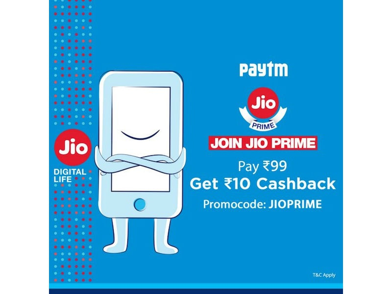 Reliance Jio Customers Can Now Buy Prime Membership Through Paytm