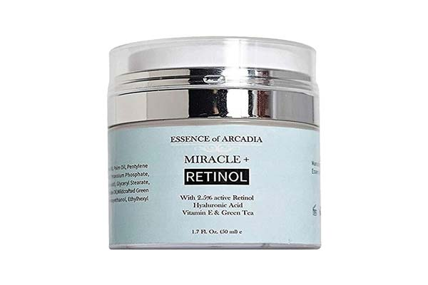 BEST RETINOL CREAM IN INDIA Retinol Moisturizer Cream High Strength for Face and Eye Area Miracle Plus - 2.5% Retinol, Hyaluronic Acid, Vitamin E, Green Tea