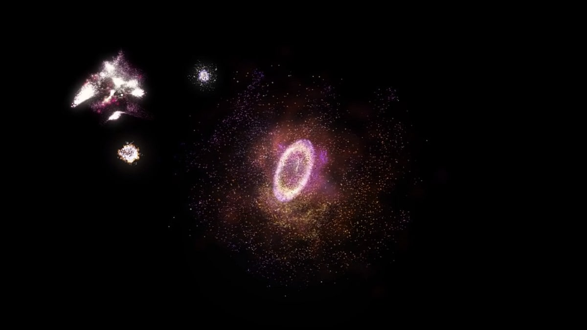 Exceptionally Rare 'Cosmic Ring of Fire' Galaxy Spotted 11 Billion Light-Years Away
