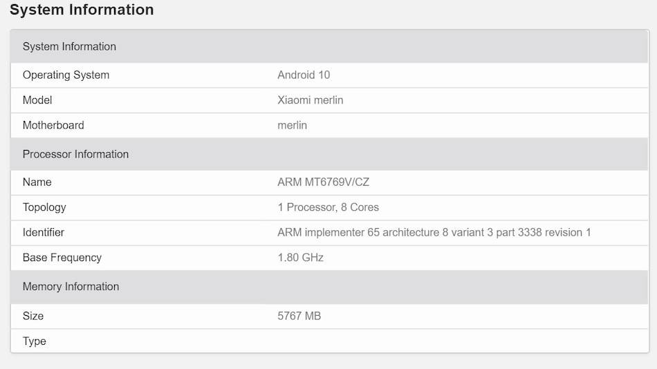 Redmi Note 9 Allegedly Spotted on Geekbench With MediaTek SoC, 6GB of RAM