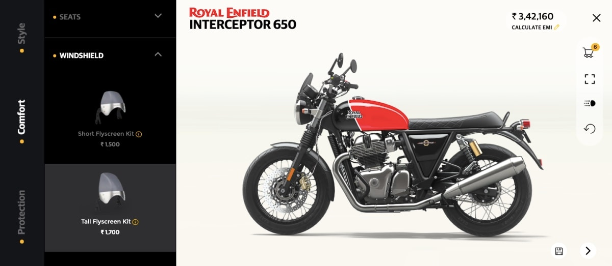 royal enfield make it yours interceptor configurator Royal Enfield
