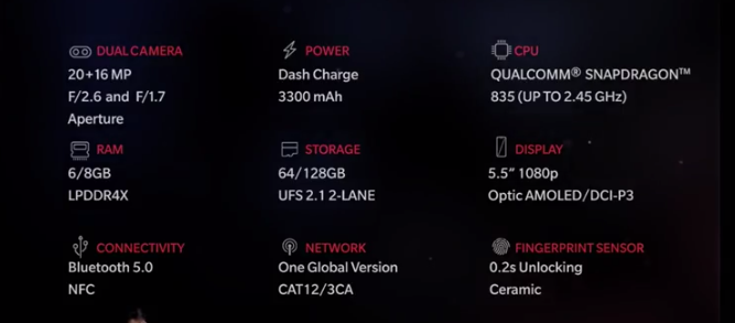 rsz oneplus 5 specs OnePlus 5 specifications