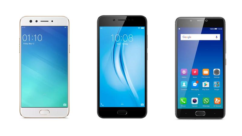 Oppo F3 vs Vivo V5s vs Gionee A1: The Best Selfie Phones Under Rs. 20,000