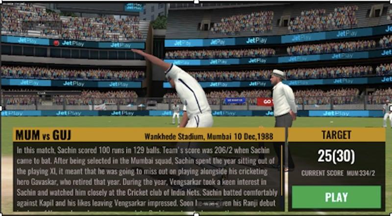 sachin saga cricket champions pre match