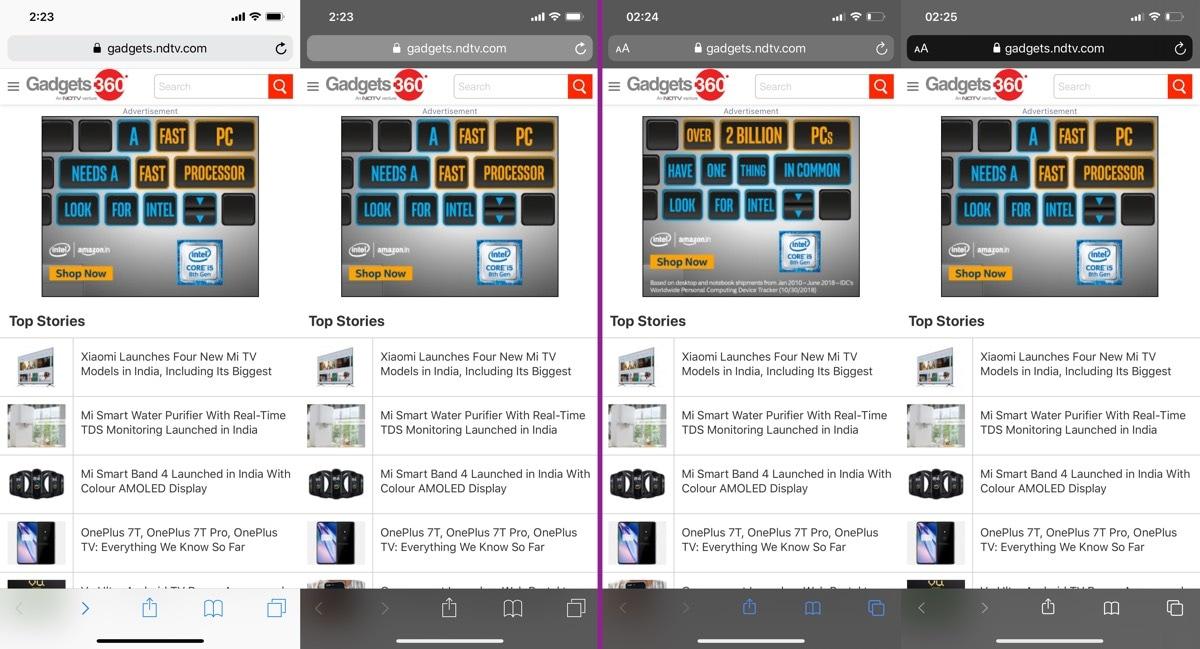 सफारी निजी मोड iOS 13 की समीक्षा