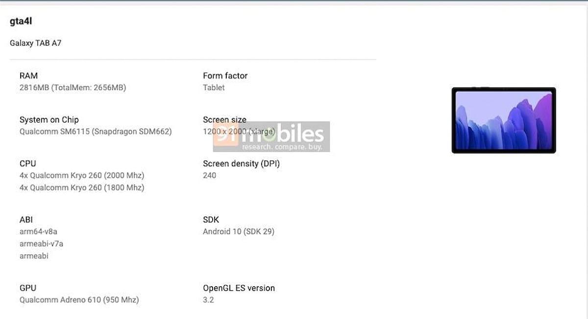 samsung galaxy tab a7 2020 google play console Samsung Galaxy Tab A7