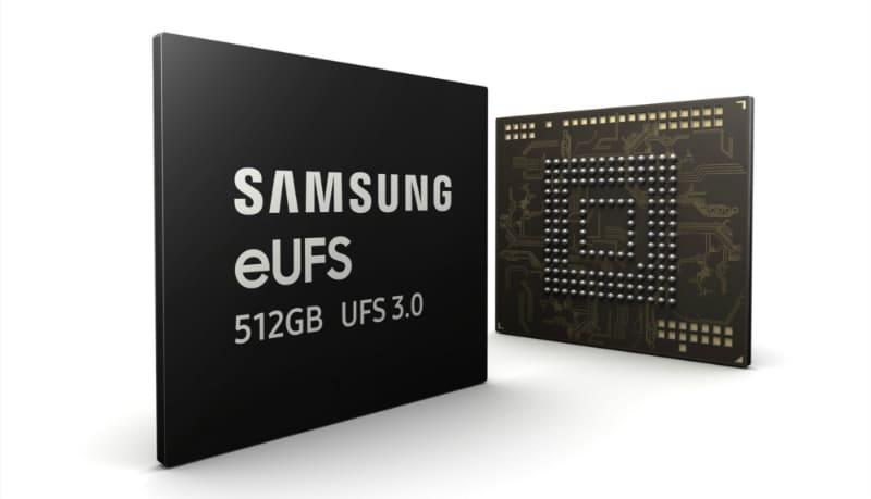 Samsung 512GB eUFS 3.0 Storage Chips Announced for Next-Gen Flagship Smartphones