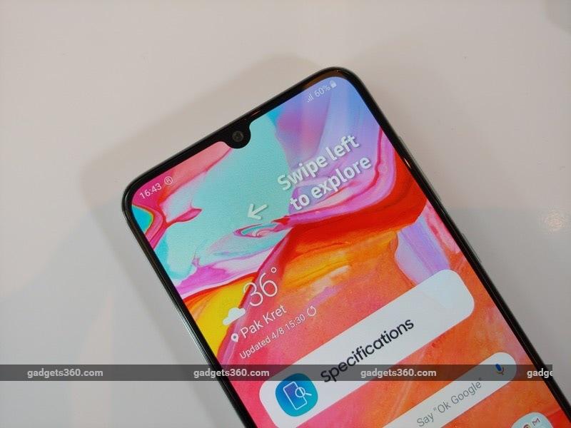 Samsung Galaxy A70 First Impressions | NDTV Gadgets360 com