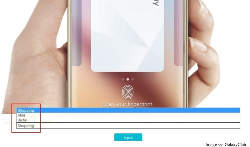 Samsung's Rumoured Virtual Assistant Bixby and Samsung Pay Mini Spotted on Official Site