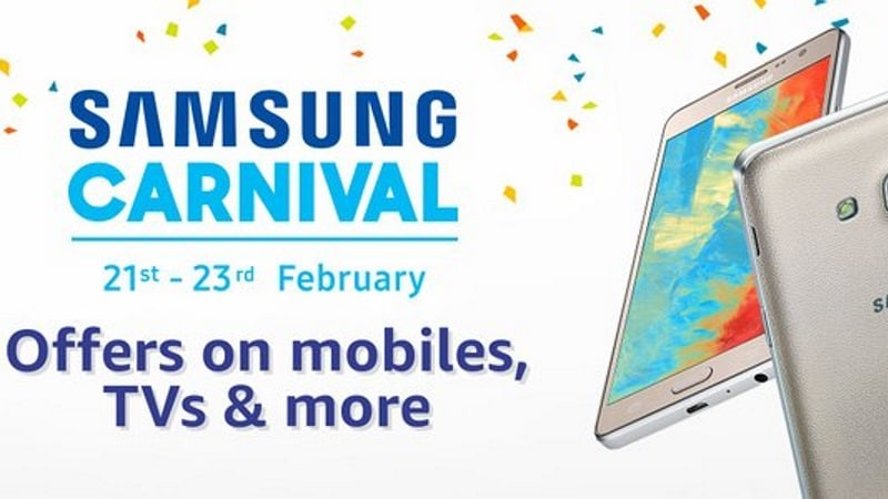 49f231623ff530 Samsung Carnival on Amazon India Starts Tuesday With Discounts on  Smartphones, Tablets, and More