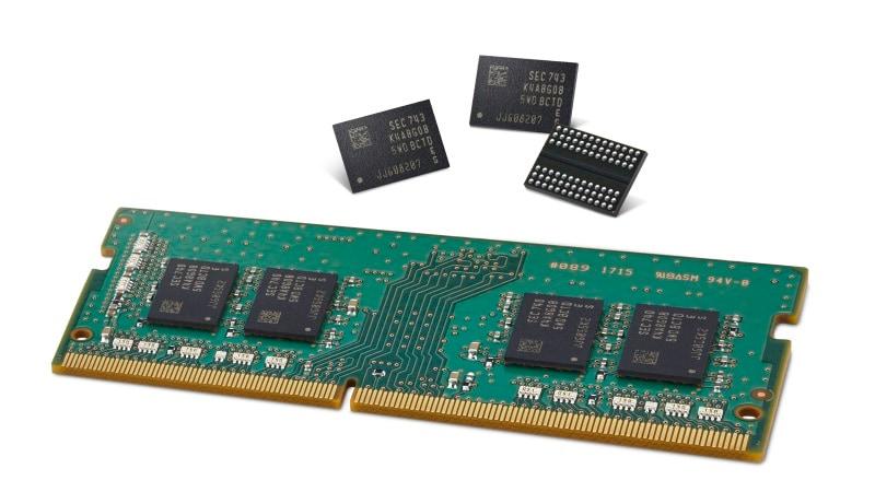 Samsung starts mass producing second-gen 10nm RAM