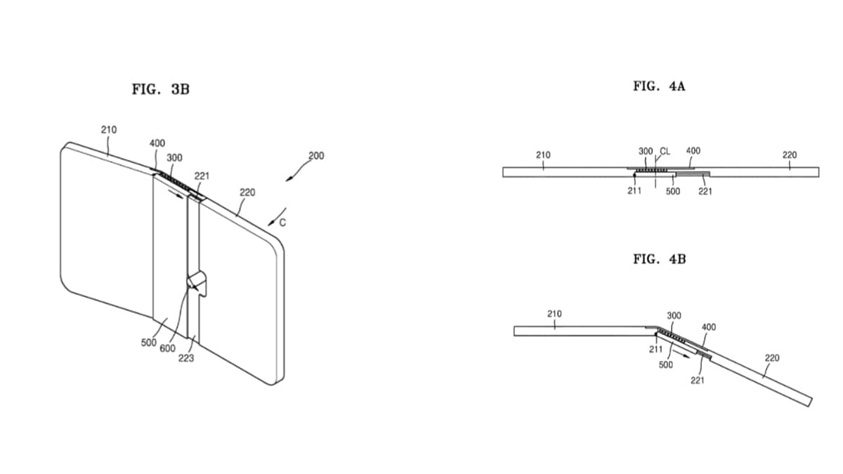 samsung folding design source uspto Samsung Out-Folding Display