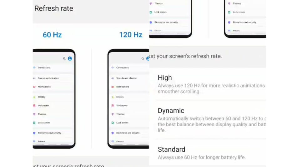 Samsung Galaxy S20 Series Tipped to Get Dynamic Refresh Rate Option, 120Hz Support at QHD+ Also Expected