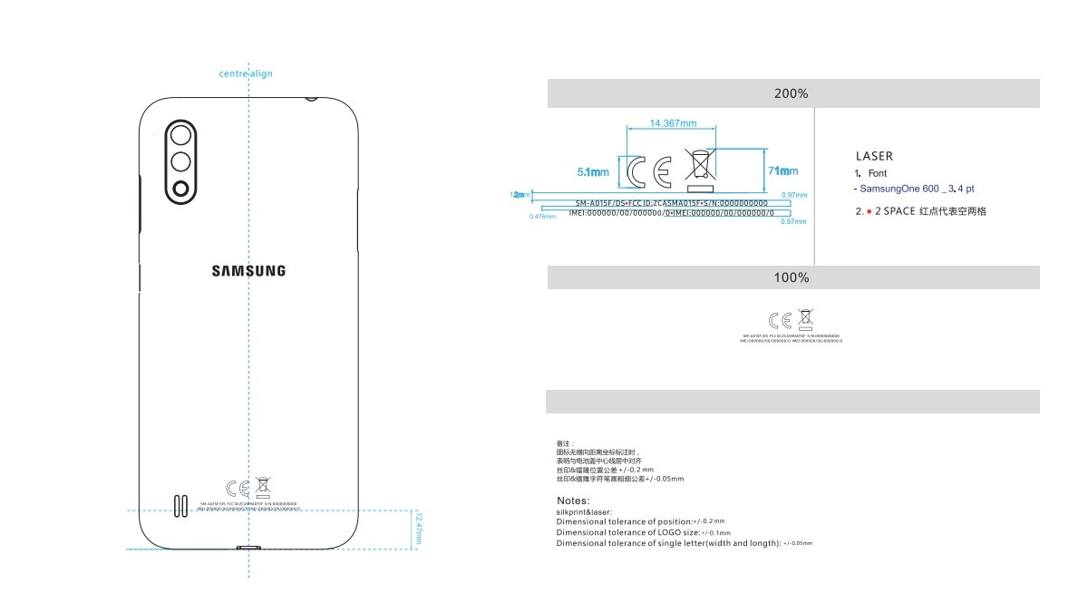 Samsung Galaxy A01 With Dual Rear Cameras, 3,000mAh Battery Spotted on US FCC
